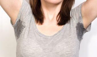 Axilas feminina suadas